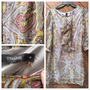 Theme paisley olive dress size M